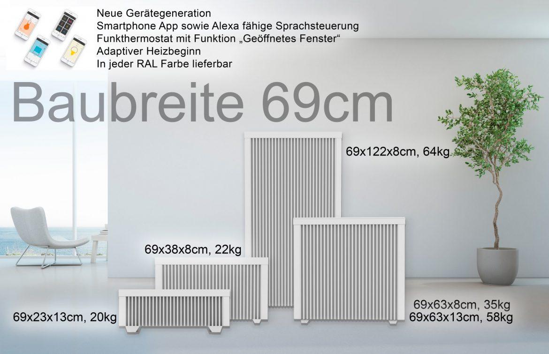 Baubreite 69cm