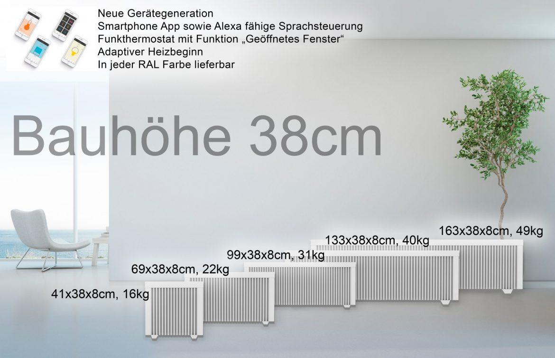 Bauhöhe 38cm